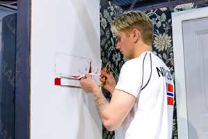 <b>NM:</b> Kristiansen stupte rett inn i NM i malerfag. Og angret ikke ett sekund. – Jeg lærte virkelig mye, sier han.