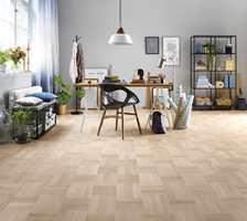 Et klassisk mønster på gulvet passer både til moderne og tidløse interiører.