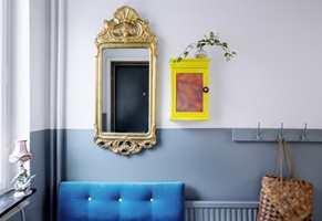 <b>FRISKT:</b> Mal nøkkelskapet i en frisk farge, så står det fram som et fint interiørelement! Nøkkelskapet her er malt i fargen Påsklilja 617 fra Beckers.