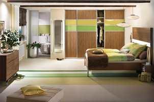 Soverommet fikk et helt nytt uttrykk etter at bjelkene ble montert.