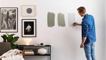 <b>ALT I ETT-PRØVE:</b>Nordsjö Colour Tester er et enkelt verktøy med innebygget mini roller som gjør det enkelt å teste fargen hjemme.