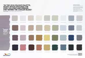 </b>2018-PALETTEN:</b> Alle farger passer med alle. Her oppfordres vi til å finne den kombinasjonen vi selv opplever som behagelig.