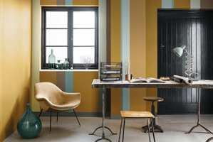 En gyllen okergul passer godt på større flater - enten alene eller i kombinasjon med andre farger.