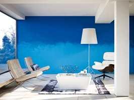 Her har Nordsjö fargegradert en vegg med farge fra Collective Passion.