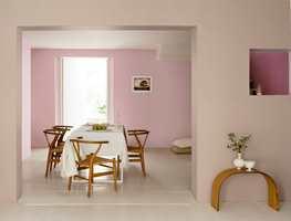 Rosa er en snill farge. Her med farge fra Nordsjö.