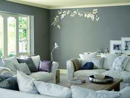 Dekoren gir rommet en unik og spennende effekt.