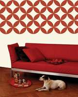 Moderne, grafiske mønstre skapes med sjablonger i XL-large