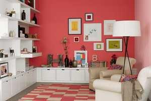 Rød stue fra Nordsjö.