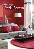 Rødfarger er i trendbildet nå og de gir god energi i f.eks. stua. I Indoor Living Red & Brown finnes mange fargealternativer.