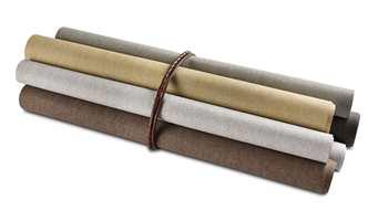 <b>LINVEGGER:</b> Lintapet gir veggene et luksuriøst og elegant preg. Kombinert med teppe på gulvet og lange gardiner, så er du på hotell! Tapet fra Arte/Green Apple. (Foto: Green Apple)