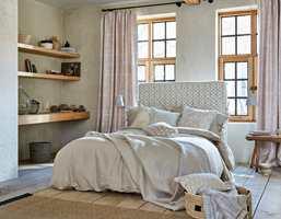 <b>SOVEROM:</b> Tekstiler i ulike kvaliteter skaper en lun atmosfære på soverommet.