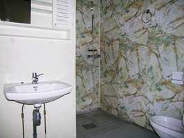 Det er lenge siden dette badet ble bygget og standarden var enkel.