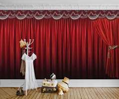 Hvorfor ikke lage en egen teaterscene på barnerommet for eksempel?