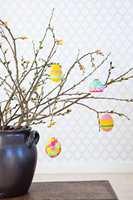 Påskepynt gjør det ekstra koselig i heimen rundt påsketider.