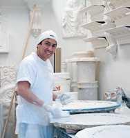 Pablo Lopez er prosjektleder i Gipsmakeriet.