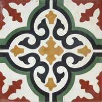 <b>MØNSTERFLIS:</b> Entregulvet tåler både farge og mønster. Du får et bra wow-gulv med disse flisene fra Golvabia. (Foto: Golvabia)