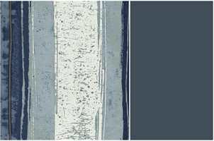 <b>STRIPER:</b> Tapet med striper kan settes opp stående eller liggende. Tapetet er fra Green Apple/Casamance.