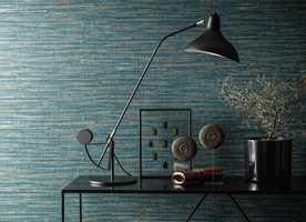 <b>OVERFLATE:</b> Tapet med overflate som ligner tekstil gir en lun og harmonisk atmosfære.
