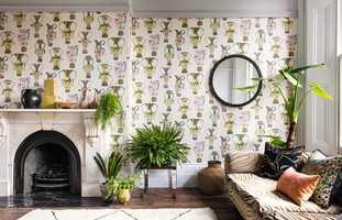 <b>PERSONLIG:</b> Med tapet på veggen kan du virkelig leke deg og skape en personlig stue.