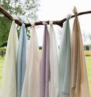 <b>TEKSTILER:</b> Myke tekstiler i lette, luftige kvaliteter er med på å skape en lett og luftig atmosfære i et rom. Disse heter Midori og føres av Borge.