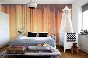 Et rustent tapet kan blant annet passe sammen med den rustikke stilen. Denne heter