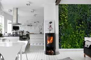 Med Mr. Perswall kan du få naturen på veggen. Tapetet lar seg kombinere med de andre kolleksjonene.
