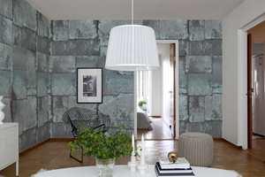 Kobberplater er også et tøft alternativ til stueveggene.