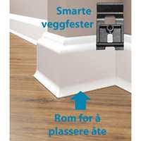 <b>SMART LIST:</b> Deco PestBoard er avtagbare og festes med smarte veggmester. Bak er det hulrom med plass til åte.