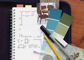 <b>PLAN:</b> Finn fram notatblokk, penn og målebånd. Det er viktig å planlegge godt. (Foto: Nordsjö)