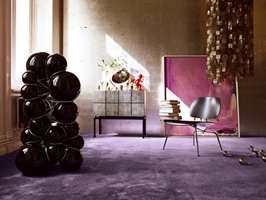 Drømmer du om lilla? Polyflor fører de flotte teppene til Vorwerk Fascination.