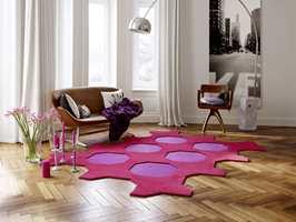 Dette er Octagon teppefliser i kolleksjonen Vorwerk Fascination, føres av Polyflor.