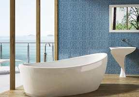 Du kan velge glassmosaikk i mange ulike farger, slik at du kan sette et personlig preg på badet.