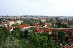 Praha sett fra den gamle borgen.