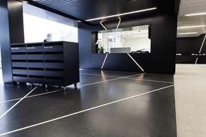 Det dekorerte gulvet er utarbeidet av Forskningsrådet i samarbeid med interiørarkitekten.
