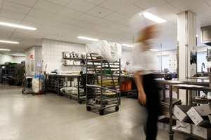 I forbindelse med ombyggingen har også hovedkjøkkenet blitt betydelig utvidet