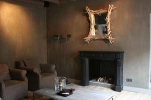 Kjellerstuen har fått en spennende betongoverflate med Fresco i fargen African Hut.