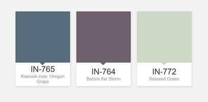 FAVORITTFARGER: Flüggers fargekonsulent Lise-Marie Ekre anbefaler gjerne mørke og duse blå og lilla farger til soverom, eller en avkoblende blekgrønn farge.