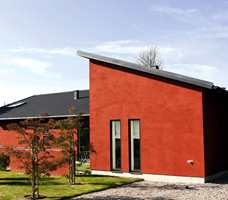En pusset fasade vil påvirke fargen på sin spesielle måte.