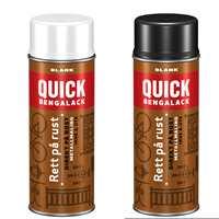 <b>SPRAY RETT PÅ RUST:</b> Metallmaling som kan påføres rett på rust kommer nå også på sprayboks, med samme kvalitet som penselmalingen.