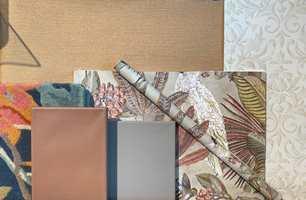Forslag til kombinasjoner til stue/kjøkken - klassisk og spennende. Rakle er nydelig til varme nyanser. Kombinert  med tre tapeter med forskjellig utrykk skaper det stilen og god hjemmefølelse