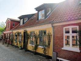 Husrekke fra Ribe i Danmark