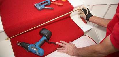 <b>SIST:</b> Teppet er det siste som skal på plass under en oppussing.