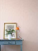 <b>STRIPER:</b> Striper i ulike størrelser er alltid populært. Dette stripete tapetet er fra kolleksjonen Stripes@Home fra Fiona/Flügger.