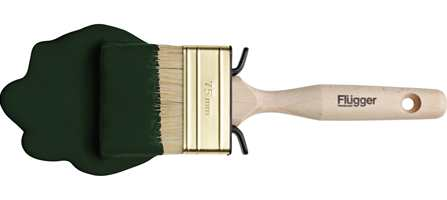 En klassisk grønn farge, Flügger 2508, men med mer sort og mye farge er den tredje av julens farger, i henhold til malingleverandøren.