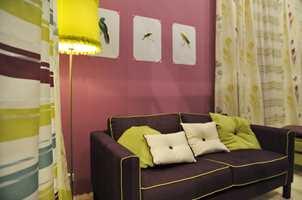 Det skal være samspill mellom vegg og valg av tekstiler, så bruk tid på å finne en kombinasjon som fungerer.