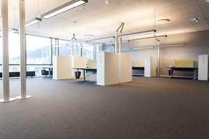 Romslige og lyse kontorlandskap gir glimrende arbeidsforhold.
