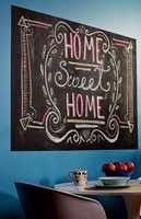 Eller man kan tegne kunstneriske beskjeder og tegninger rett på veggen!