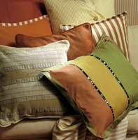 Denne lune miksen med harmonerende farger viser hva som faktisk kan forenes av stripete tekstiler.