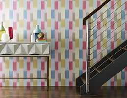 Et fargerikt tapet kan inneholde hele paletten for resten av boligen.