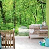 Skal vi bevare miljøet i fremtiden må vi handle nå. Fototapet med et grønt motiv er et friskt alternativ på barnerommet. (astex)
